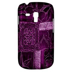Purple Background Patchwork Flowers Galaxy S3 Mini by BangZart
