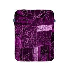 Purple Background Patchwork Flowers Apple Ipad 2/3/4 Protective Soft Cases by BangZart