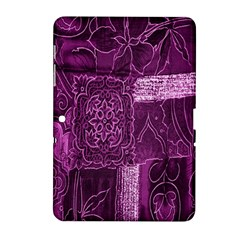 Purple Background Patchwork Flowers Samsung Galaxy Tab 2 (10 1 ) P5100 Hardshell Case  by BangZart