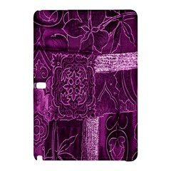 Purple Background Patchwork Flowers Samsung Galaxy Tab Pro 10 1 Hardshell Case
