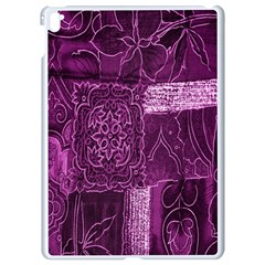 Purple Background Patchwork Flowers Apple Ipad Pro 9 7   White Seamless Case by BangZart