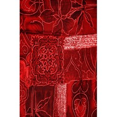 Red Background Patchwork Flowers 5 5  X 8 5  Notebooks by BangZart