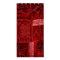 Red Background Patchwork Flowers Shower Curtain 36  X 72  (stall)  by BangZart