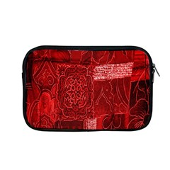 Red Background Patchwork Flowers Apple Macbook Pro 13  Zipper Case by BangZart