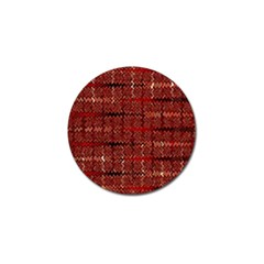 Rust Red Zig Zag Pattern Golf Ball Marker (10 Pack) by BangZart