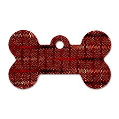 Rust Red Zig Zag Pattern Dog Tag Bone (two Sides) by BangZart