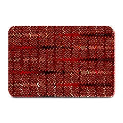 Rust Red Zig Zag Pattern Plate Mats by BangZart