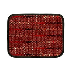 Rust Red Zig Zag Pattern Netbook Case (small)  by BangZart