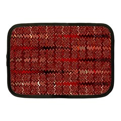 Rust Red Zig Zag Pattern Netbook Case (medium)  by BangZart