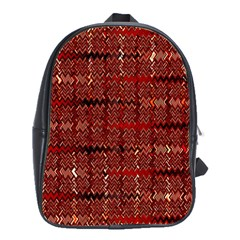 Rust Red Zig Zag Pattern School Bags(large)  by BangZart