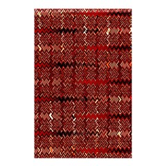 Rust Red Zig Zag Pattern Shower Curtain 48  X 72  (small)