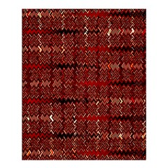 Rust Red Zig Zag Pattern Shower Curtain 60  X 72  (medium)  by BangZart