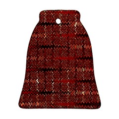 Rust Red Zig Zag Pattern Bell Ornament (two Sides) by BangZart