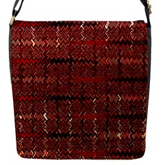 Rust Red Zig Zag Pattern Flap Messenger Bag (s) by BangZart