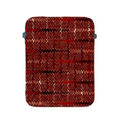 Rust Red Zig Zag Pattern Apple Ipad 2/3/4 Protective Soft Cases by BangZart
