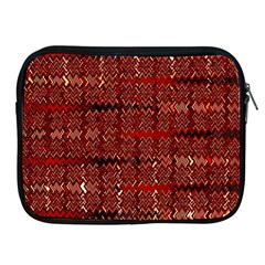 Rust Red Zig Zag Pattern Apple Ipad 2/3/4 Zipper Cases by BangZart
