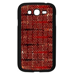 Rust Red Zig Zag Pattern Samsung Galaxy Grand Duos I9082 Case (black) by BangZart