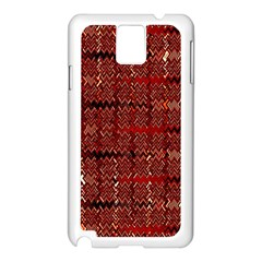 Rust Red Zig Zag Pattern Samsung Galaxy Note 3 N9005 Case (white) by BangZart