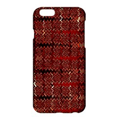 Rust Red Zig Zag Pattern Apple Iphone 6 Plus/6s Plus Hardshell Case by BangZart