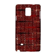 Rust Red Zig Zag Pattern Samsung Galaxy Note 4 Hardshell Case by BangZart