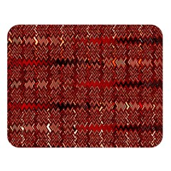 Rust Red Zig Zag Pattern Double Sided Flano Blanket (large)  by BangZart