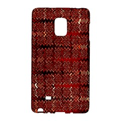 Rust Red Zig Zag Pattern Galaxy Note Edge by BangZart