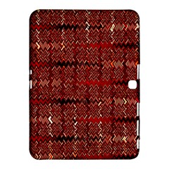 Rust Red Zig Zag Pattern Samsung Galaxy Tab 4 (10 1 ) Hardshell Case