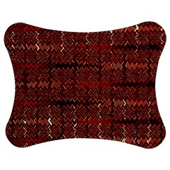 Rust Red Zig Zag Pattern Jigsaw Puzzle Photo Stand (bow) by BangZart