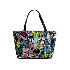 Vintage Horror Collage Pattern Shoulder Handbags by BangZart