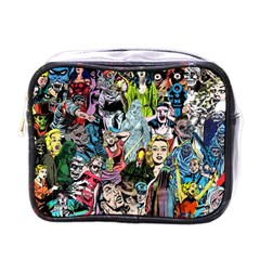 Vintage Horror Collage Pattern Mini Toiletries Bags by BangZart