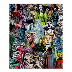 Vintage Horror Collage Pattern Shower Curtain 60  X 72  (medium)  by BangZart