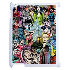 Vintage Horror Collage Pattern Apple Ipad 2 Case (white) by BangZart