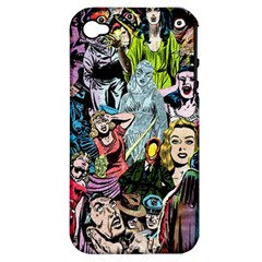 Vintage Horror Collage Pattern Apple Iphone 4/4s Hardshell Case (pc+silicone) by BangZart
