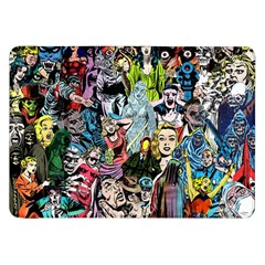 Vintage Horror Collage Pattern Samsung Galaxy Tab 8 9  P7300 Flip Case by BangZart
