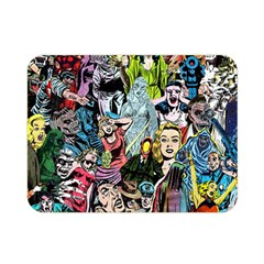 Vintage Horror Collage Pattern Double Sided Flano Blanket (mini)  by BangZart