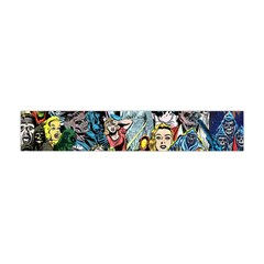 Vintage Horror Collage Pattern Flano Scarf (mini) by BangZart