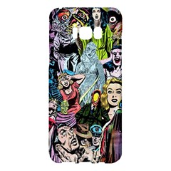 Vintage Horror Collage Pattern Samsung Galaxy S8 Plus Hardshell Case