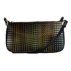 Background Colors Of Green And Gold In A Wave Form Shoulder Clutch Bags by BangZart