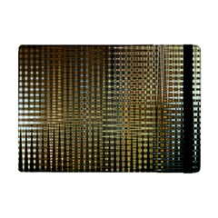 Background Colors Of Green And Gold In A Wave Form Apple Ipad Mini Flip Case by BangZart