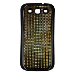 Background Colors Of Green And Gold In A Wave Form Samsung Galaxy S3 Back Case (black) by BangZart
