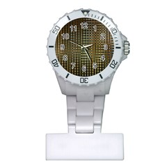 Background Colors Of Green And Gold In A Wave Form Plastic Nurses Watch