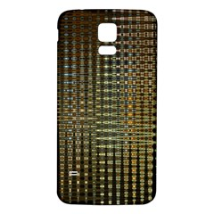 Background Colors Of Green And Gold In A Wave Form Samsung Galaxy S5 Back Case (white) by BangZart