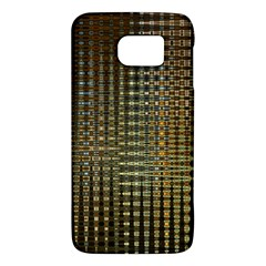 Background Colors Of Green And Gold In A Wave Form Galaxy S6 by BangZart