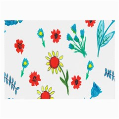 Flowers Fabric Design Large Glasses Cloth (2 Side) by BangZart