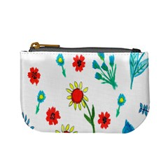 Flowers Fabric Design Mini Coin Purses by BangZart