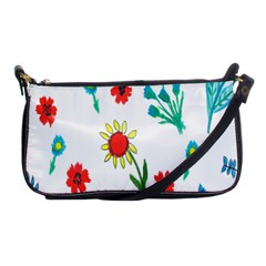 Flowers Fabric Design Shoulder Clutch Bags by BangZart