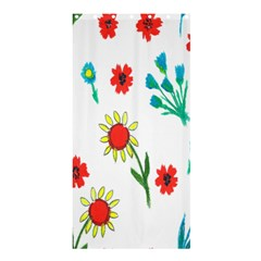 Flowers Fabric Design Shower Curtain 36  X 72  (stall)  by BangZart