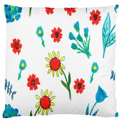 Flowers Fabric Design Large Cushion Case (two Sides) by BangZart
