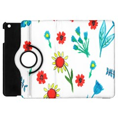 Flowers Fabric Design Apple Ipad Mini Flip 360 Case by BangZart