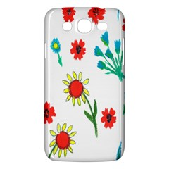 Flowers Fabric Design Samsung Galaxy Mega 5 8 I9152 Hardshell Case  by BangZart
